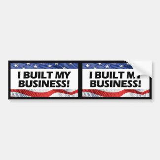 Favorable-Capitalismo, construí mi negocio, Anti-O Pegatina Para Auto