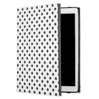 Favorable caso del iPad blanco negro del lunar
