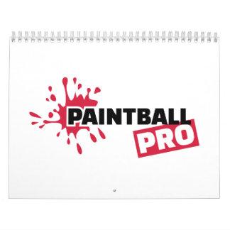 Favorable chapoteo del color de Paintball Calendario De Pared