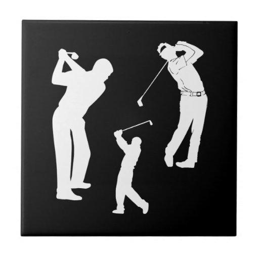 Favorable de golf azulejo cuadrado pequeño