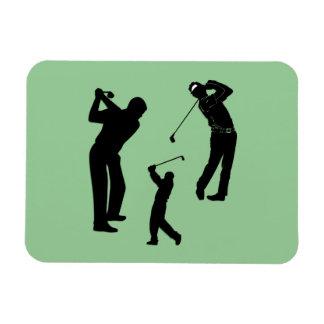 Favorable de golf rectangle magnet
