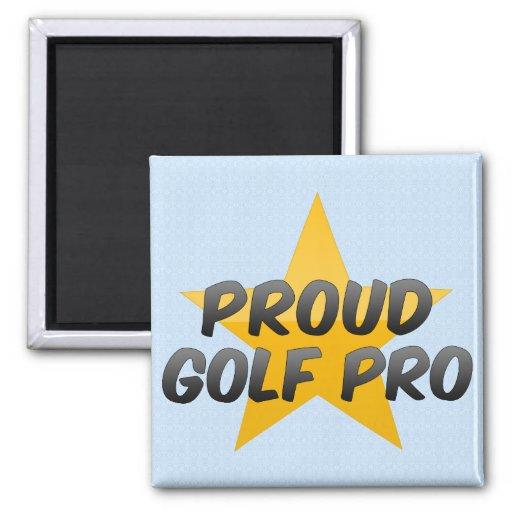 Favorable de golf orgulloso imán cuadrado