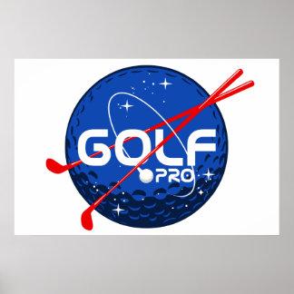 Favorable de golf póster