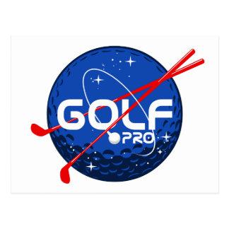 Favorable de golf tarjeta postal
