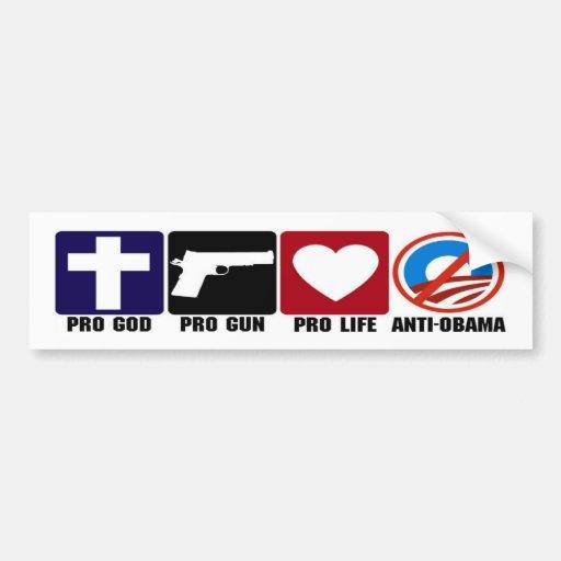 Favorable dios, arma, vida, pegatinas para el para etiqueta de parachoque