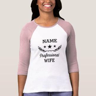Favorable diseño gráfico de la esposa el | playera