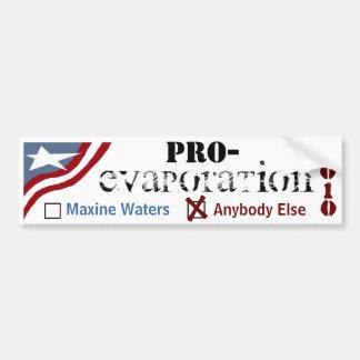 Favorable evaporación pegatina para auto