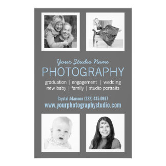 Favorable folleto del negocio del fotógrafo flyer personalizado