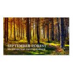Favorable fotografía (bosque) tarjeta de visita
