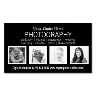 Favorable fotógrafo con 4 fotos de encargo de la tarjetas de visita magnéticas (paquete de 25)