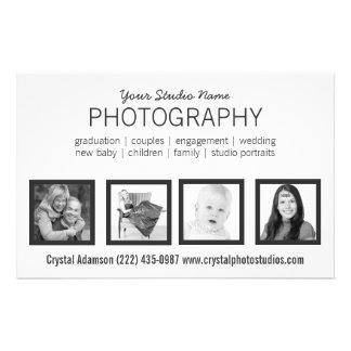 Favorable fotógrafo de 4 fotos o cualquier profesi tarjetas informativas