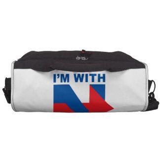 """Favorable Hillary Clinton """"estoy con desagradable Bolsas Para Portátil"""