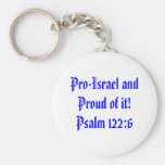 ¡Favorable-Israel y orgulloso de él! 122:6 del sal Llavero Redondo Tipo Pin