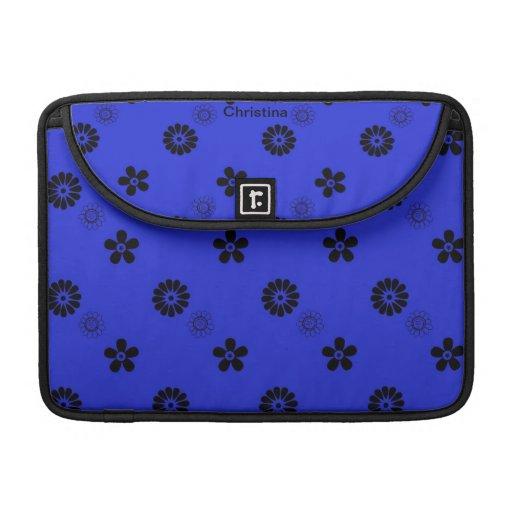 Favorable manga floral azul enrrollada de Macbook Funda Para Macbooks