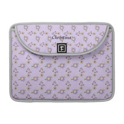 Favorable manga floral púrpura bonita de Macbook Fundas Para Macbook Pro