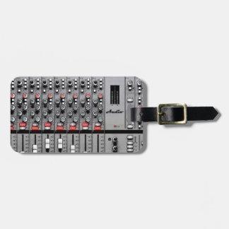 Favorable mezclador audio etiqueta para equipaje