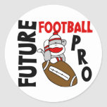 Favorable mono del calcetín del fútbol futuro etiqueta redonda