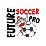 Favorable mono del calcetín del fútbol futuro tarjetas postales