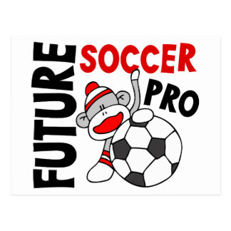 Favorable mono del calcetín del fútbol futuro tarjeta postal