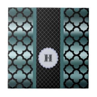 Favorable multi de Monogramed de la turquesa oscur Azulejos Ceramicos