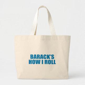 Favorable-Obama - BARACK CÓMO RUEDO Bolsa Lienzo