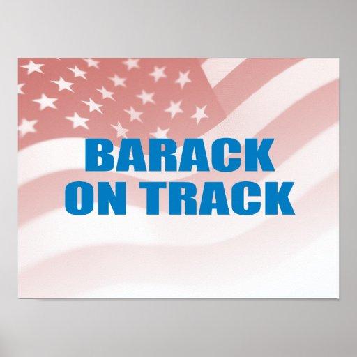 Favorable-Obama - BARACK EN PISTA Posters