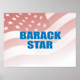 Favorable-Obama - ESTRELLA de BARACK Posters