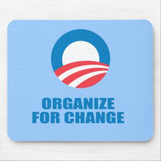 Favorable-Obama - ORGANICE PARA el CAMBIO Tapete De Ratones