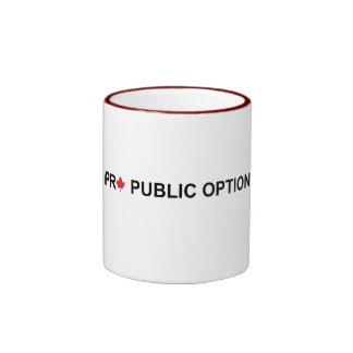 Favorable opción pública tazas de café