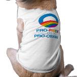Favorable-Orgullo y Favorable-Obama Ropa De Perros
