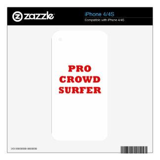 Favorable persona que practica surf de la iPhone 4S calcomanía