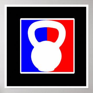 "Favorable poster del logotipo de Kettlebell - ""imp"