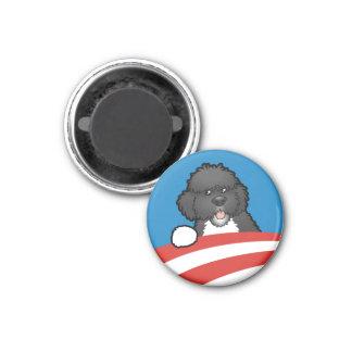 Favorable primer perro BO Obama Imán Redondo 3 Cm