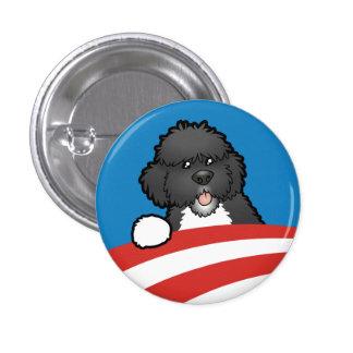 Favorable primer perro BO Obama Pin Redondo De 1 Pulgada