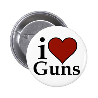 Favorable segunda enmienda: I armas del corazón Pin Redondo 5 Cm