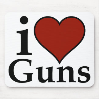 Favorable segunda enmienda: I armas del corazón Tapete De Ratón