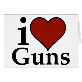 Favorable segunda enmienda: I armas del corazón Tarjeta De Felicitación