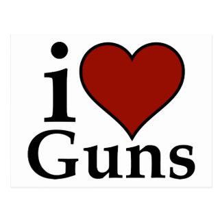 Favorable segunda enmienda: I armas del corazón Tarjeta Postal