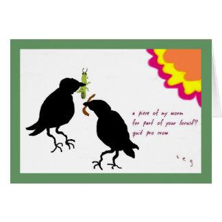 Favorable tarjeta del cuervo de la libra
