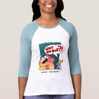 Favorable-Vendedor divertido divertido del gato el Camiseta