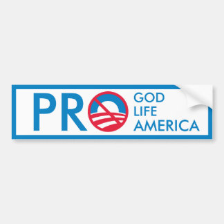 Favorable vida America=Anti-Obama de dios Pegatina Para Auto