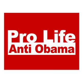 Favorable vida Obama anti Postales