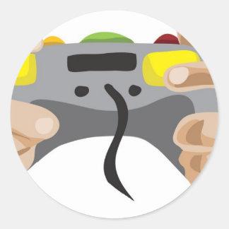 ¡favorable videojugador!  Personalizable: Etiquetas Redondas