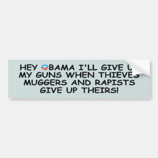 Favorables armas antis de Obama no más de Obama Pegatina Para Auto