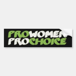 Favorables mujeres Prochoice Etiqueta De Parachoque