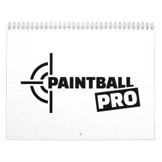 Favorables retículos de Paintball Calendarios De Pared