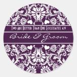 Favores a juego del boda floral del vintage del etiqueta redonda