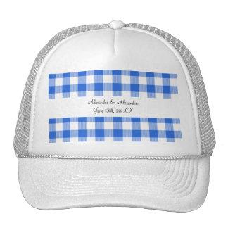Favores azules del boda del modelo de la guinga gorras