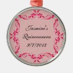 Favores de encargo del ornamento de Quinceanera Adorno Navideño Redondo De Metal