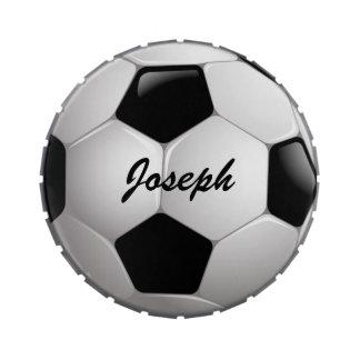 Favores de fiesta adaptables del balón de fútbol jarrones de dulces